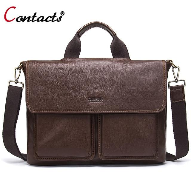Контакта кожаная сумка мужская натуральная кожа сумка мужская через плечо  сумочка известные бренды кожаные сумки мужские bd7ef7cb497