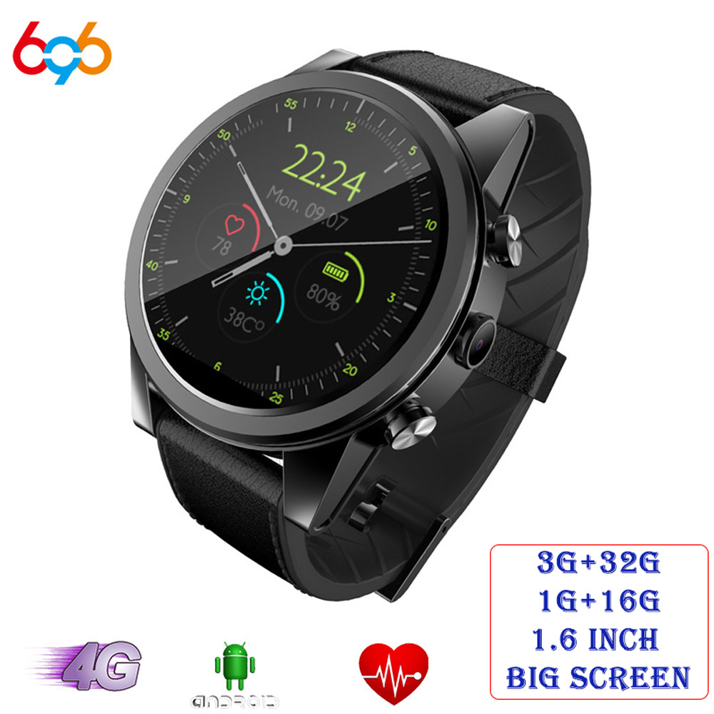 Montre intelligente Android 696X360 1 + 16 GB/3 + 32 GB 1.6