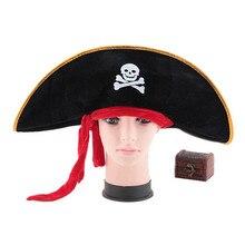 2016 Nouveauté Jouets Halloween Articles De Fête-Pirate Capitaine chapeau Pirate Chapeau Rouge bande