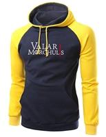 Game Of Thrones Valar Morghulis Print Men S Raglan Hoodie 2017 Autumn Winter Fleece Sweatshirt Hip