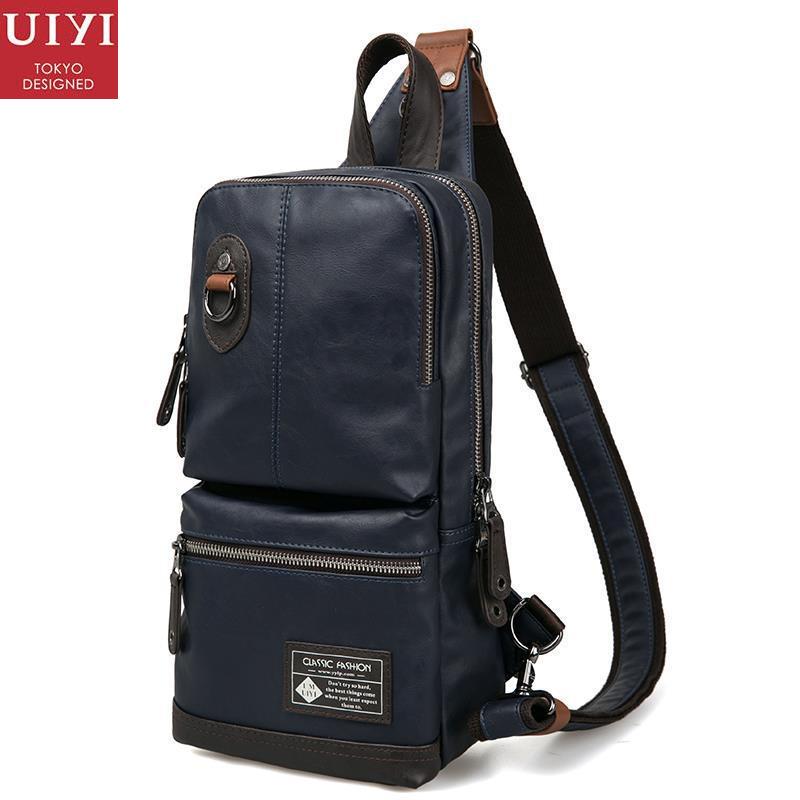 ФОТО UIYI Fashion Messenger Men Bag Handbag School Casual PU Leather Crossbody Shoulder Bags Teenager Chest Pack Satchel Sling 150023