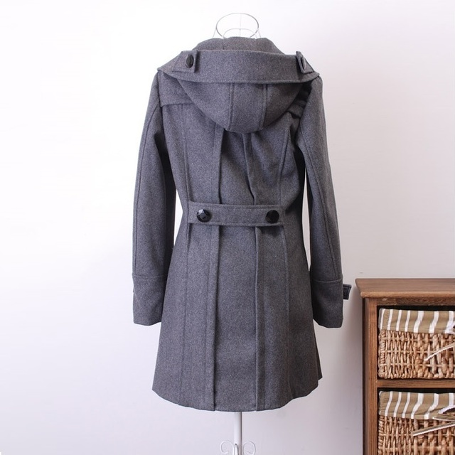 Winter jacket women Coat Casaco Feminino Sobretudo Femininos De Inverno Black Woolen Trench Coat Women Jacket Warm Overcoat 3