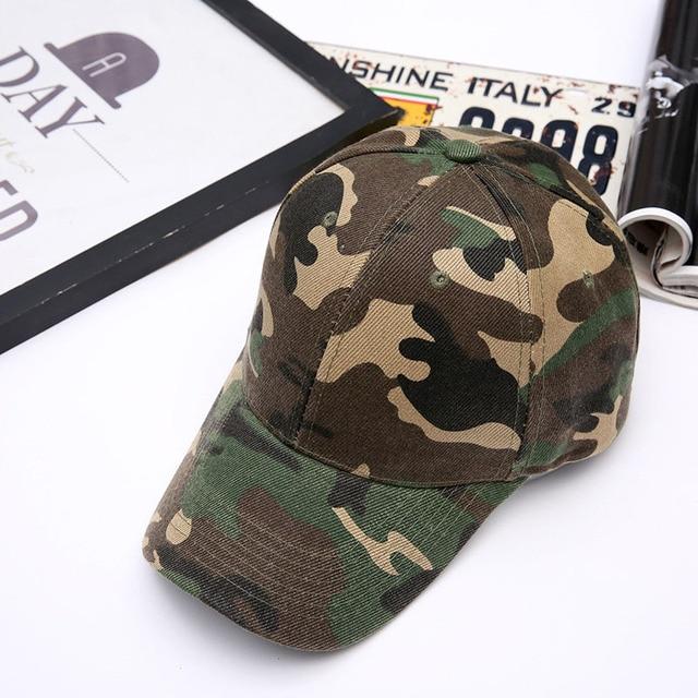 2f9d011e Army Green Camouflage Baseball Cap Unisex Men Women Snapback Caps  Adjustable Visor Hat