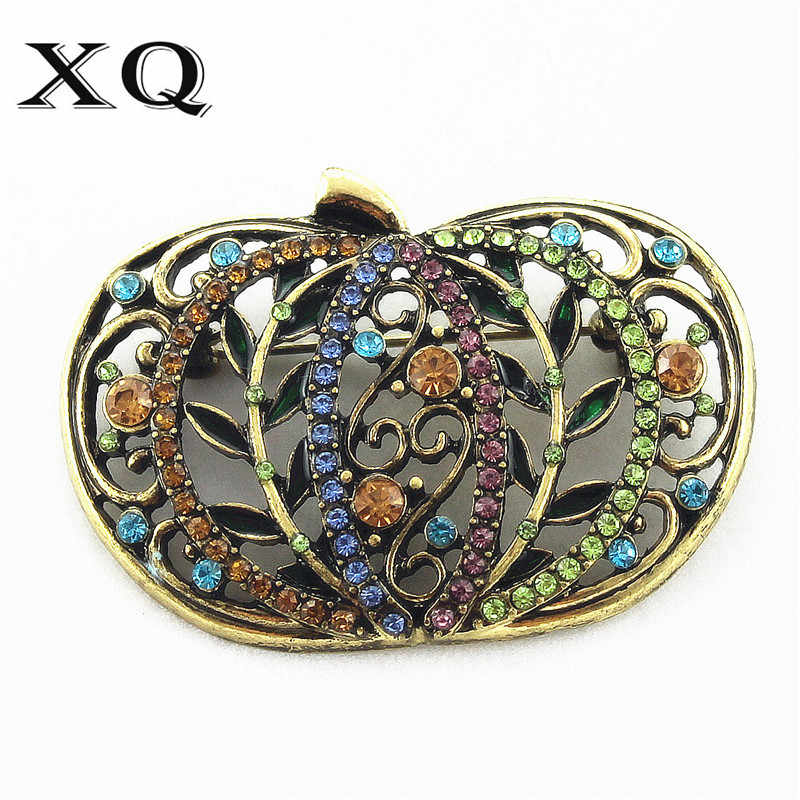XQ 2016Free shipping new fashionable woman  jewels pumpkin coat clothing joker temperament brooch