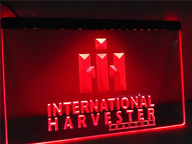 Lg133 International Harvester Tractor Led Neon Light Sign Home Decor Crafts