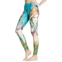 Nueva sexy yoga pantalones punkyes de las mujeres impresión colorida atractiva delgada inferior de la aptitud de funcionamiento elástico leggings lady pantalones deportivos envío gratis