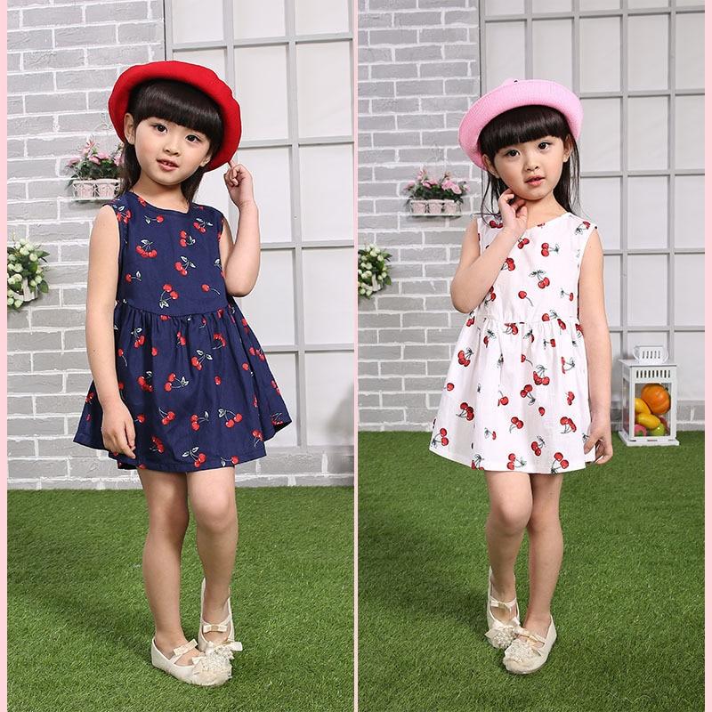 616530f2a Del algodón del verano de marca 3 años ropa de la muchacha 4 años muchacha  del vestido del verano vestido de niña de verano en Vestidos de Mamá y bebé  en ...