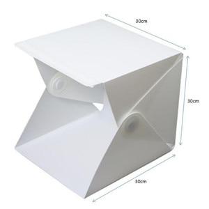Image 5 - 30*30cm 2 Panel LED Light 4 Color Folding Lightbox Photography Photo Studio Softbox Adjustable Brightness Light for DSLR Camera