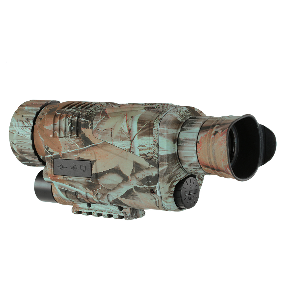 5X40 Digital Infrared Night Vision Goggle Monocular 200m Range Video DVR Imagers for Hunting Camera Device Free phone lens clip