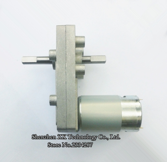 20KGF.CM--80kgf.cm 555 Double shaft DC Gear Motor  Torque High Power Metal Gear Geared motors  12v / 24v 1.2rpm-300rpm CW CCW bringsmart 5840 31zy double shaft motor 24v dc worm geared motor 4v dc reducer motors high torque reversed self lock for robot