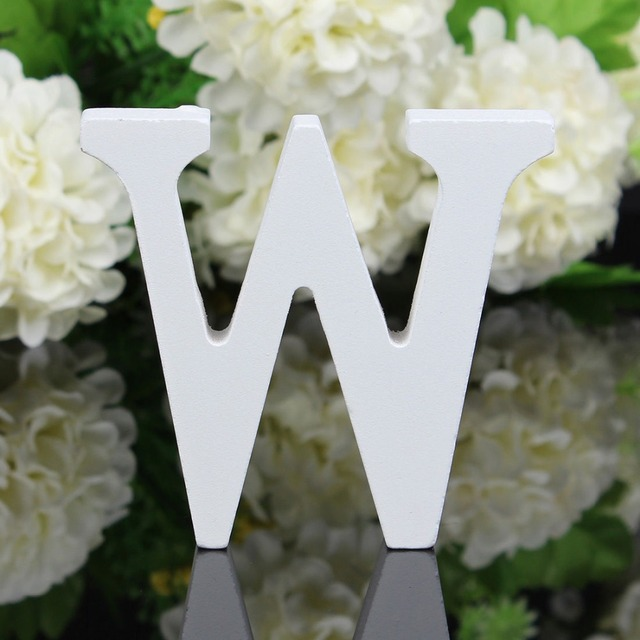 Wood Wooden White Letters Alphabet Wedding Birthday Party Home Decor