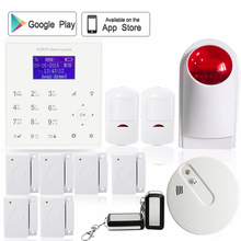 English Polish Wireless quad band GPRS 2.4G WI-FI smart home anti-theft security alarm system sms Android IOS APP control