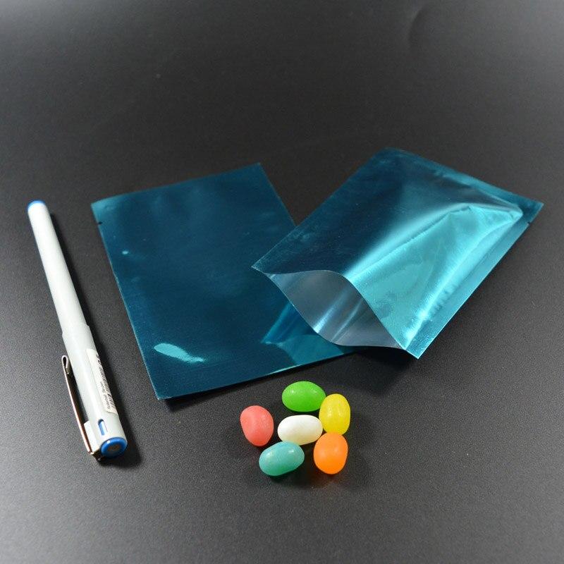 """100 шт 9x13 см(3,"""" x 5,1""""), красочная термопечать, предотвращающая появление запаха мешки из фольги мешки для хранения продуктов - Цвет: Blue"""