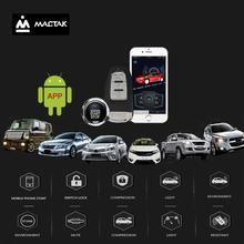 Car accessories Keyless Entry Comfort System PKE android mobile  Phone APP Remote Start Car Engine Car Alarm Push  963 все цены