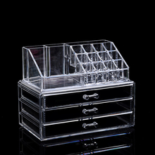 Clear Acrylic Makeup Organizer Storage Boxe Plastic Make Up Organizer For Cosmetics Lipstick Organizer home Storage Drawers type