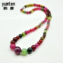 Yumten Colorful Agate Collares Mujer Wedding Jewelry Perlas Chakra Burma Ruby Holiday Gifts Popular Stylish Simplicity Jade