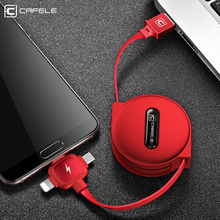 CAFELE 3 in 1 Retractable Cable Type C Micro USB Cables Charging for iPhone Samsung Huawei Xiaomi Data Sync