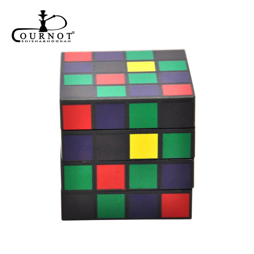 COURNOT Rubik s Cube Shape Aviation Aluminum Tobacco Herb Grs