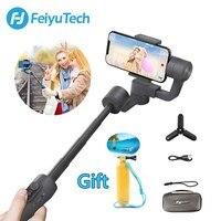 Feiyutech vimble 2 feiyu 3 eixos handheld smartphone cardan estabilizador com 183mm pólo tripé para iphone x 8 7 xiaomi