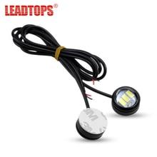 LEADTOPS 2pcs Car LED DRL 23mm Eagle Eye Daytime Running Light lamps 12v External Styling- Motorcycle light BJ