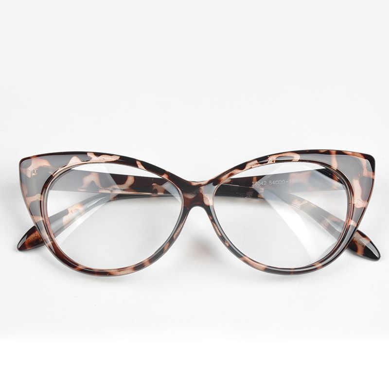 97b63a5eb9f0 1pc Plain Eye Frame Spectacle Cat Eye glasses Eye Styling Leopard  Eyeglasses Frame Women Brand Birthday