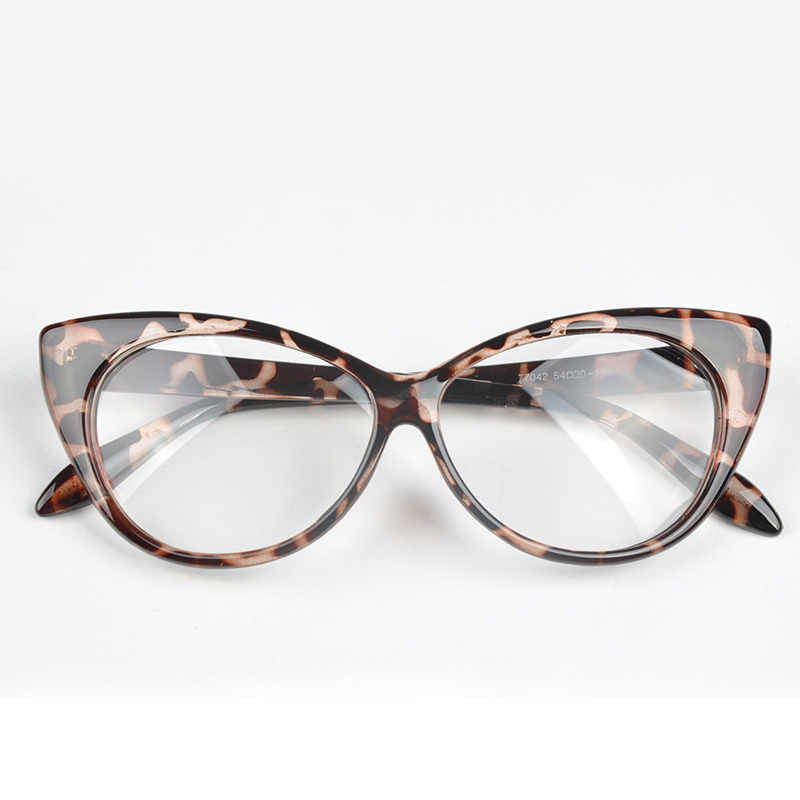 c81ba7a565ed 1pc Plain Eye Frame Spectacle Cat Eye glasses Eye Styling Leopard Eyeglasses  Frame Women Brand Birthday