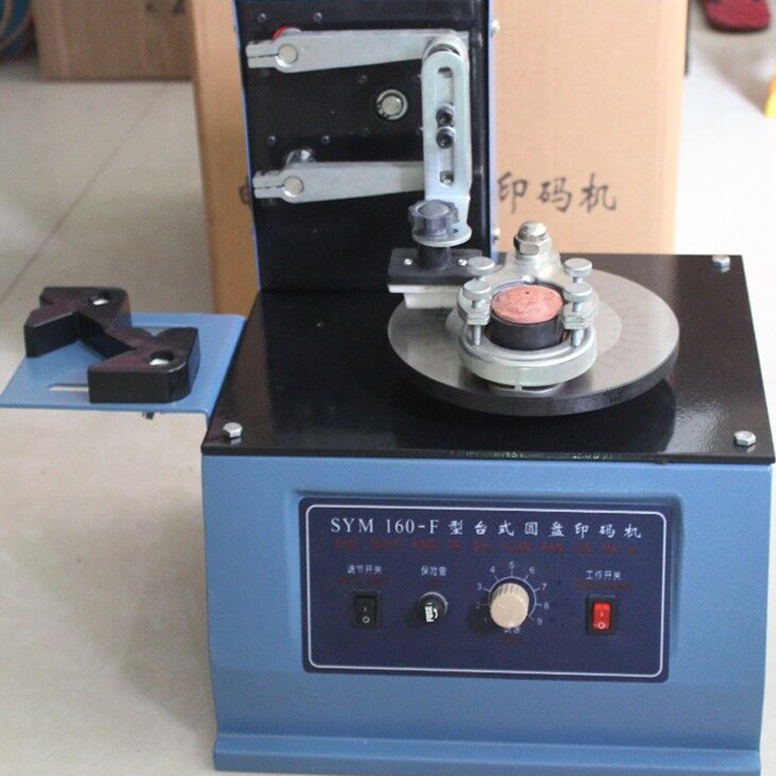SYM160 220V Environmental Desktop Electric Pad Printer Round Pad Printing Machine Ink Printer