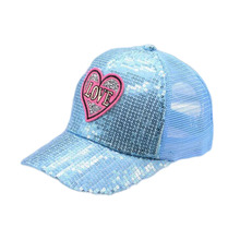 цены SUOGRY Korean Fashion Sequins Caps Spring Summer Cotton Hats for Boy and Girl Duck Tongue Net Cap Snapback Brand