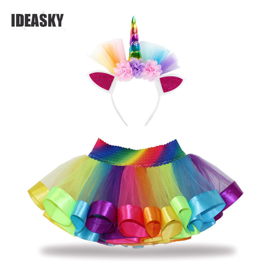 2018 New Adult Childrens//Kids Tutu Skirt Party Fancy Dress Halloween DanceWear