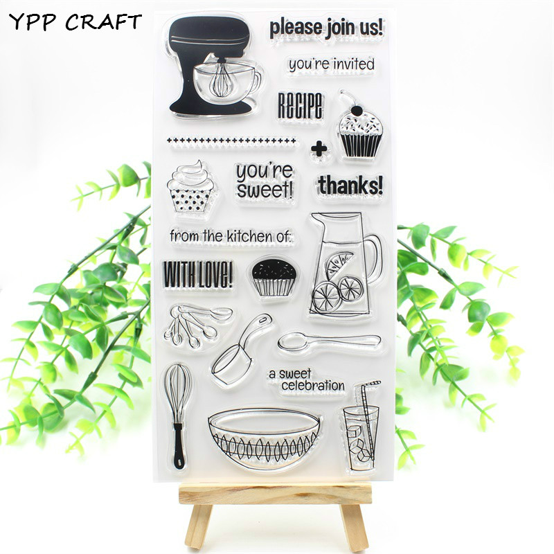 YPP CRAFT With Love Transparent Clear Silicone Stamps for DIY Scrapbooking Planner/Card Making/Kids Crafts Decoration Supplies max309cse
