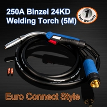 MB 24Kd mig/mag welder torch High quality 16 FEET BINZEL Welding Torch Complete tig Torch Complete