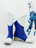 Pokemon Latias Anthropomorphism Blue Cosplay Shoes Boots For Adult Women's Anime Party Cosplay Boots Custom Made