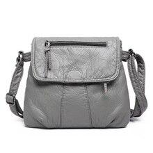 2019 новые мягкие сумка из искусственной кожи для женщин сумка лоскут крест средства ухода за кожей сумки для леди Женский Бренд 4 цвета