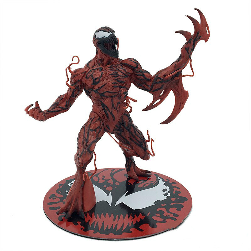 The Amazing Spider Man Venom Cletus Kasady Carnage PVC Action Figure Toy Spiderman Villain Venom Collectible Model Toys пластилин spider man 10 цветов