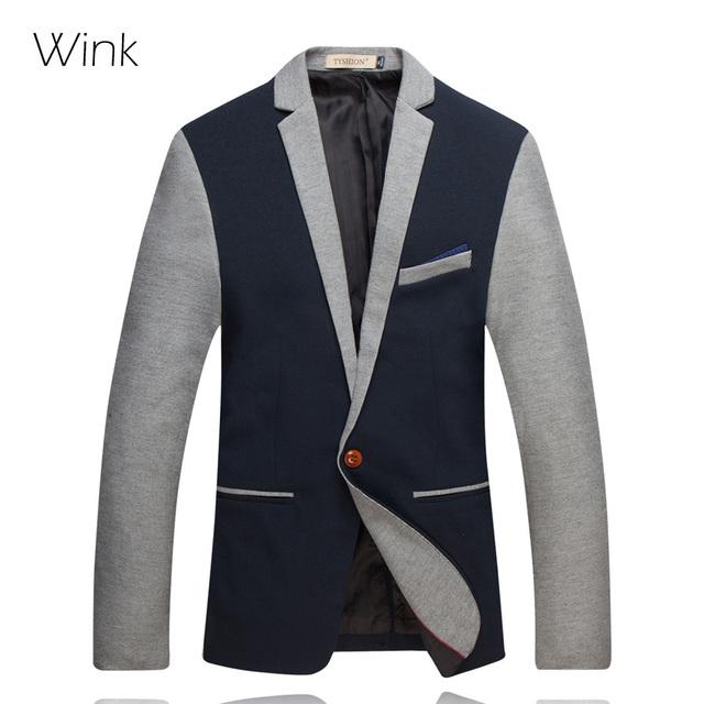 Terno da moda Para Os Homens 2015 Outono Coreano Magro Único Botão Casual Aptidão dos homens Blazer Fino Terno de Negócio Jaquetas J403