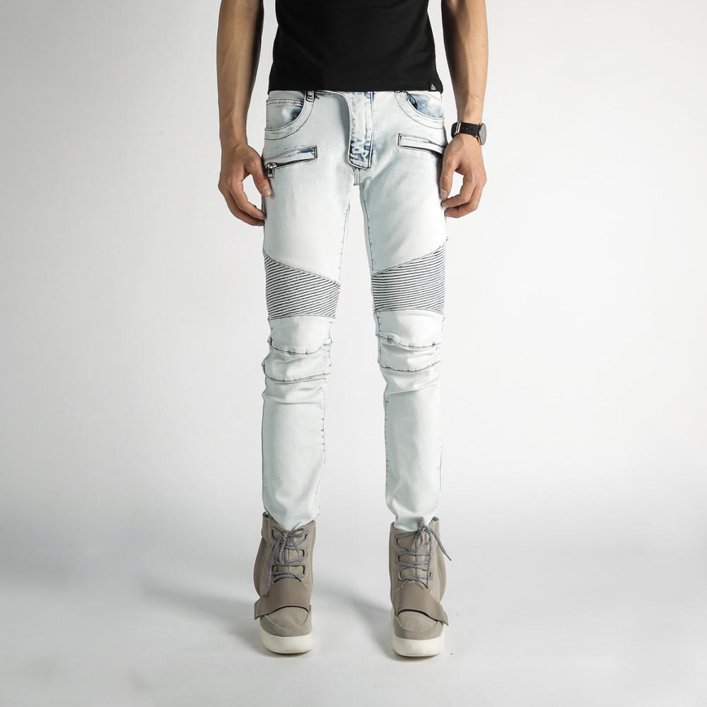 2017 new Men's Classic Jeans Straight Full Length Casual Skinny Mens Jeans Slim Elastic Biker Jeans Man Pants Plus Size 29-42 jeans spring new women jeans slim elastic skinny straight trousers ladies fashion full length plus size denim casual pants