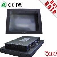2017 Computador Ordenador Hmi Panel Computer Sale 10.4 Inch Vga Hdmi Dc12v Input Industrial Usb Touch Screen Monitor For Pc