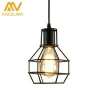 ASCELINA Nordic Loft Vintage Lamp Modern Creative Pendant Lights Home Industrial Lighting Iron Lampshade Bar Cafe