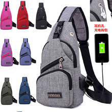 84d5fec5be07 Buy chest bag with charging port and get free shipping on AliExpress.com