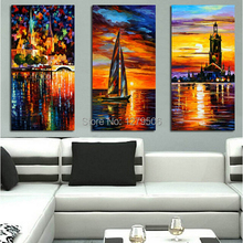 decorative Canvas Oil Painting canvas art 3 Pieces/set beautiful scenery oil painting home decoration wall pictures
