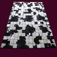 Gratis verzending 1 stuk 100% natuurlijke handgemaakte koe lederen iran machine gemaakt tapijt