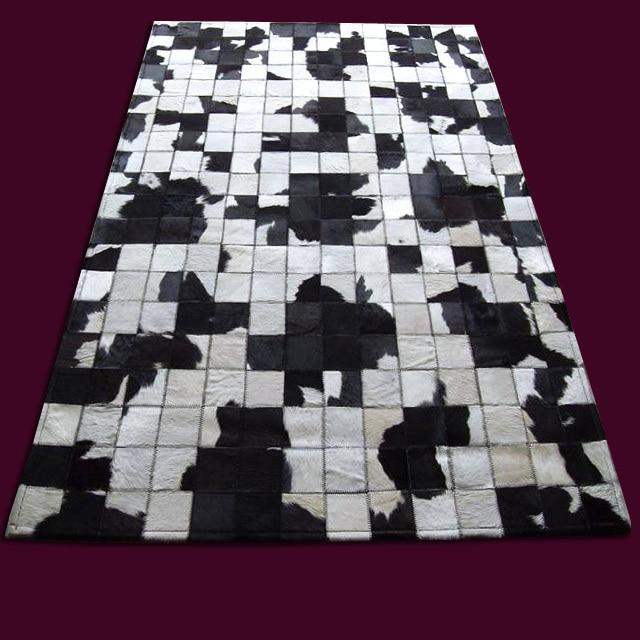 Trasporto libero 1 pezzo 100% naturale fatto a mano in pelle di mucca iran fatta a macchina tappeto