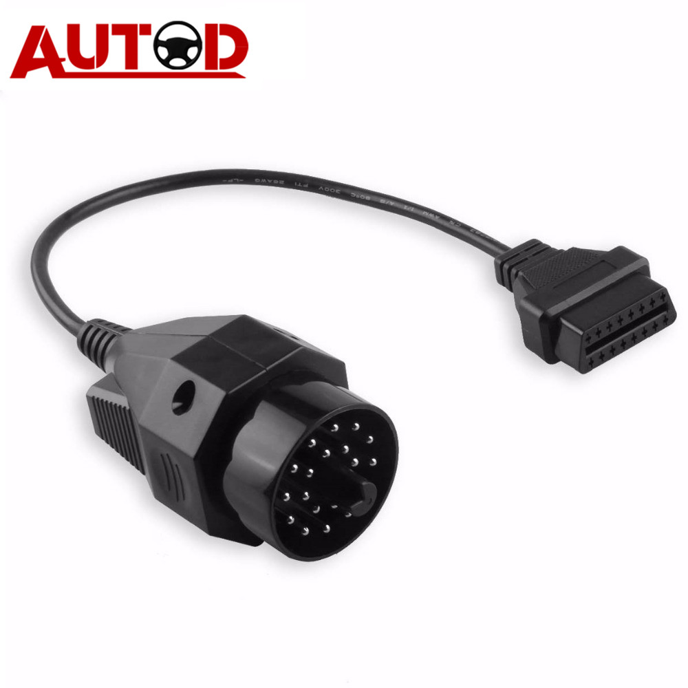 OBD2 Cable For BMW 20 PIN OBD Connector 20-16PIN Diagnostic Cable Auto 20PIN Connector Adapter For BMW E35 E36 X5 Z3 Series