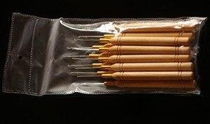 Image 5 - 48 pieces להרבה, הארכת שיער טבעת מיקרו כלי עץ משיכת מחט מברז הוק הנוצה