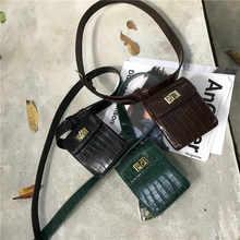 Fanny Pack belt bag animal print alligator waist bag women luxury brand leather 2018 fall winter hight quality wholesale