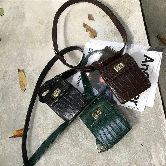 Fanny Pack belt bag animal print alligator waist bag women luxury brand leather 2018 fall winter hight quality wholesale 2