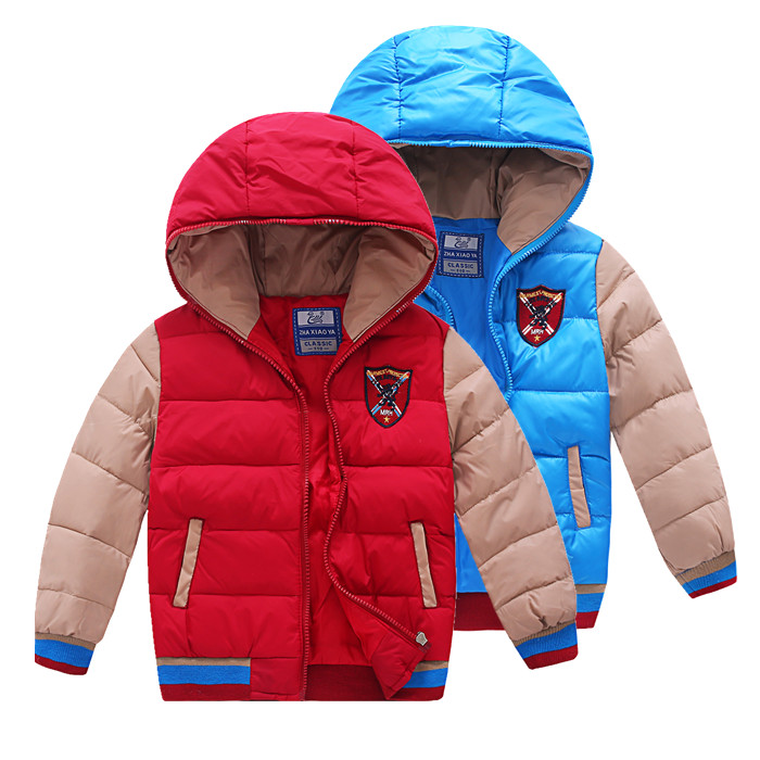2017 winter children's clothes boys down thicken fleece warm baby boy zipper padded jackets for boys kids hooded coats outerwear casual 2016 winter jacket for boys warm jackets coats outerwears thick hooded down cotton jackets for children boy winter parkas