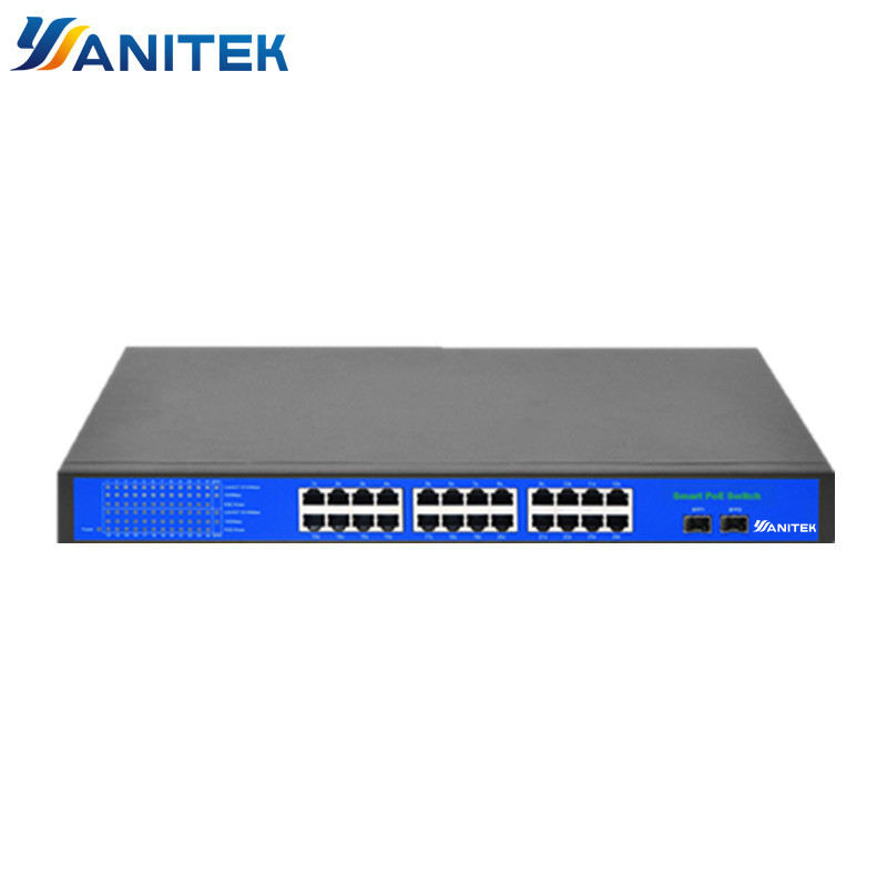 24+2+2 Port 250W POE Switch Support Ieee802.3af/at Ip Cameras And Wireless AP 10/100Mbps Standard Network Switch