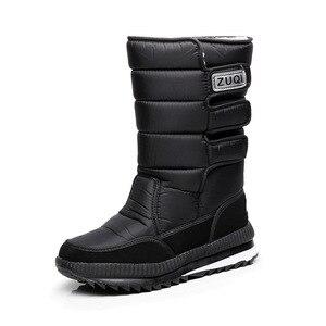 Image 5 - الرجال الأحذية عارضة الشتاء الثلوج الأحذية ل حذاء رجالي سميكة أفخم مقاوم للماء زلة مقاومة الذكور الشتاء الأحذية حجم كبير 34   47