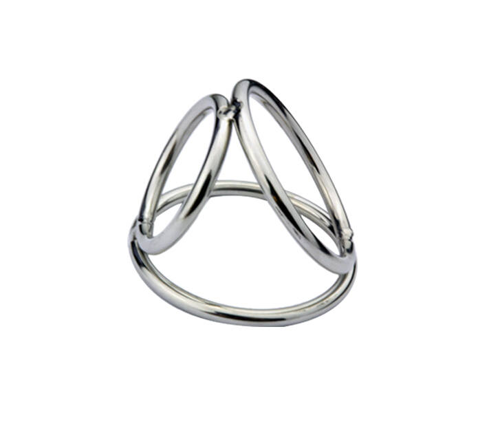 Buy Triple Stainless Steel Male Chastity Device Rings Ball Enhancer A172